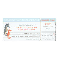 wedding invitation boarding pass tickets (<em>$2.57</em>)