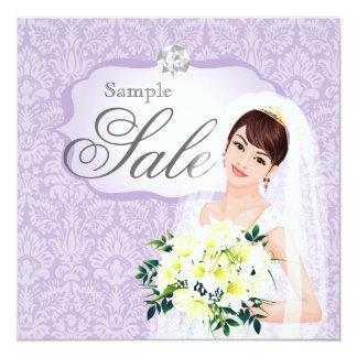 Wedding Invitation Bride Boutique purple