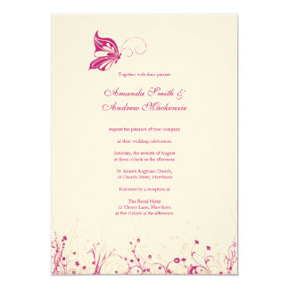 Wedding Invitation ~ Butterfly Garden 1