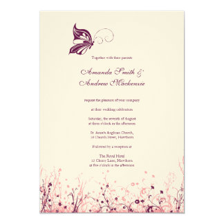 Wedding Invitation ~ Butterfly Garden 3