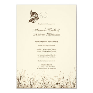 Wedding Invitation ~ Butterfly Garden 5