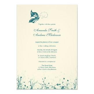 Wedding Invitation ~ Butterfly Garden 6