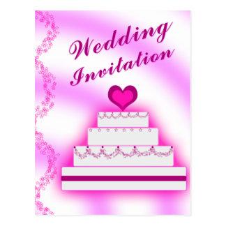 Wedding Invitation Cake - Invite Save Date Bride Postcard