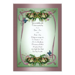 Wedding invitation calla lilies Butterflies mauve,