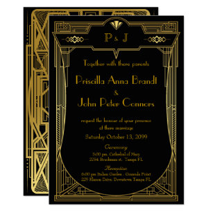 Great Gatsby Wedding Invitations Announcements Zazzle
