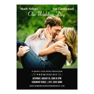 Wedding Invitation Card | Movie Poster Design