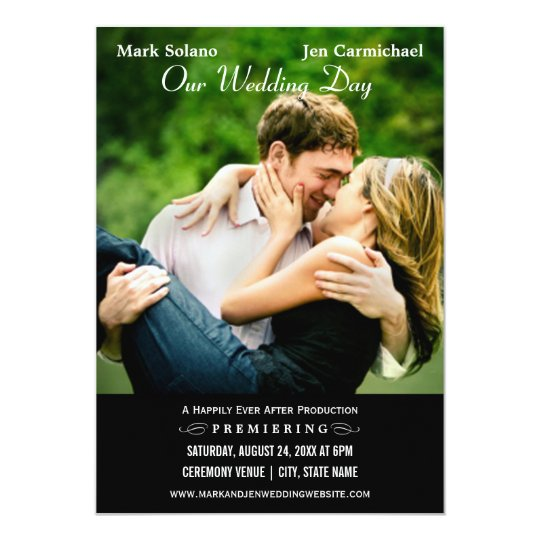 Wedding Invitation Card Movie Poster Design Zazzle Com