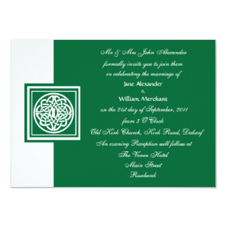 Wedding Invitation Celtic Knot Color Select