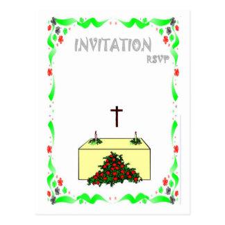 Wedding Invitation - Church ceremony Postcard