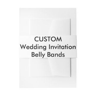Wedding Invitation Custom Belly Bands Wraps Invitation Belly Band