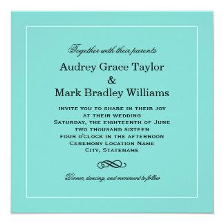 Wedding Invitation Design | Aqua Blue