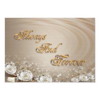 Wedding Invitation  Diamonds on satin customizable