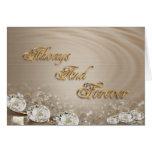 Wedding Invitation  Diamonds on satin customizable Greeting Card
