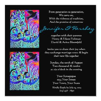 Wedding Invitation - Dove of Peace Ebony (square)