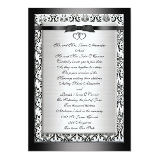Wedding Invitation elegant Black white