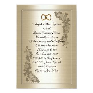 Wedding Invitation elegant Satin-look