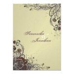 "Wedding Invitation - Elegant Shattered Red Rose 5"" X 7"" Invitation Card"