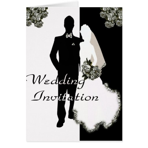 Wedding Invitation Elegant Template Greeting Card