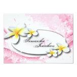 """Wedding Invitation Elegant Vintage Plumeria Floral 5"""" X 7"""" Invitation Card"""