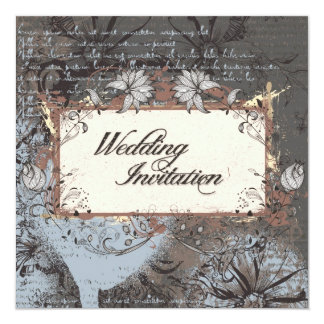 Wedding Invitation Elegant Vintage Sketch Flowers