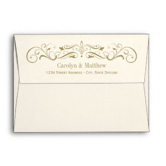 Wedding printed mailing envelopes zazzle for Order in wedding invitation envelope