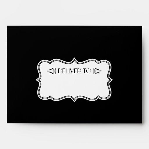 Wedding Invitation Envelopes   Art Deco Style
