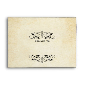 Wedding Invitation Envelopes   Vintage Flourish