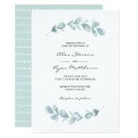 Wedding Invitation | Eucalyptus garden watercolor