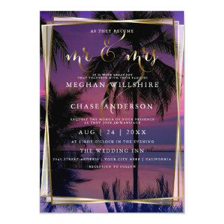 Wedding Invitation  | Exotic Tropical Night Beach