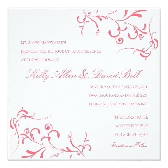Wedding Invitation | Floral Grace III |purpi