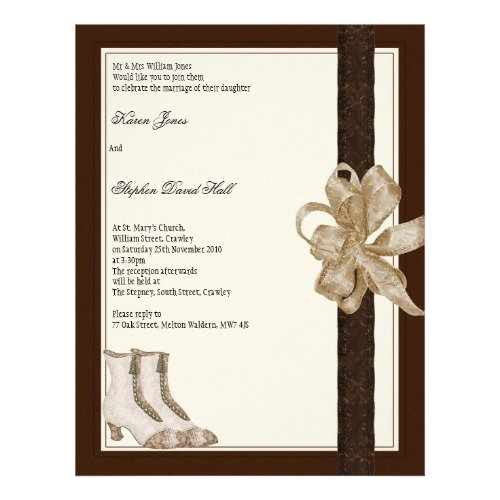 Wedding invitation flyer from brides mother & fath flyer
