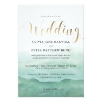 Wedding Invitation Foil - Watercolor Seas