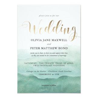 Wedding Invitation Foil - Watercolor Seas