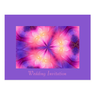 Wedding Invitation - Fractal / Mandala Postcard