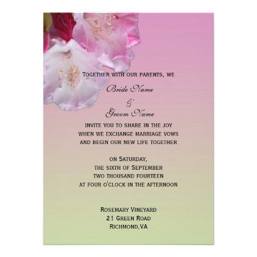 Wedding Invitation From Bride And Groom 55 X 75 Invitation Card
