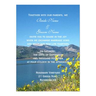 "wedding invitation from bride and groom 5.5"" x 7.5"" invitation card"
