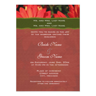 "Wedding invitation from bride and groom's parents. 5.5"" x 7.5"" invitation card"
