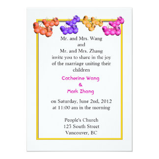 Wedding invitation from bride and groom's parents,