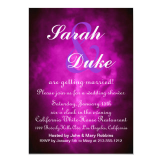 Wedding Invitation Fuchsia & Lilac