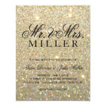 Wedding Invitation - Gold Glit Fab
