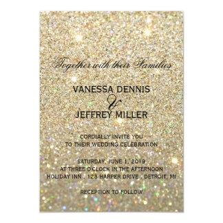 Wedding Invitation - Gold Glit Fab & Two