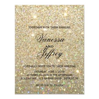 Wedding Invitation - Gold Glit Fab Two