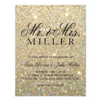 Gold Glitter Invitations Announcements Zazzle