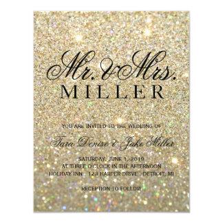 Wedding Invitation - Gold Glitter Fab