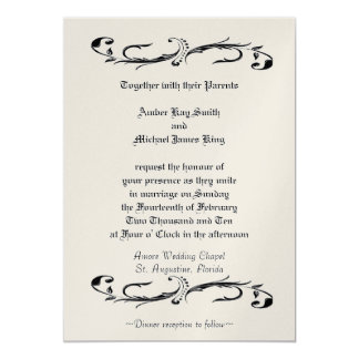 Wedding invitation gold METALLIC two sided print