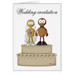 Wedding invitation golden/dark greeting cards