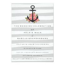Wedding Invitation   Gray Romantic Nautical