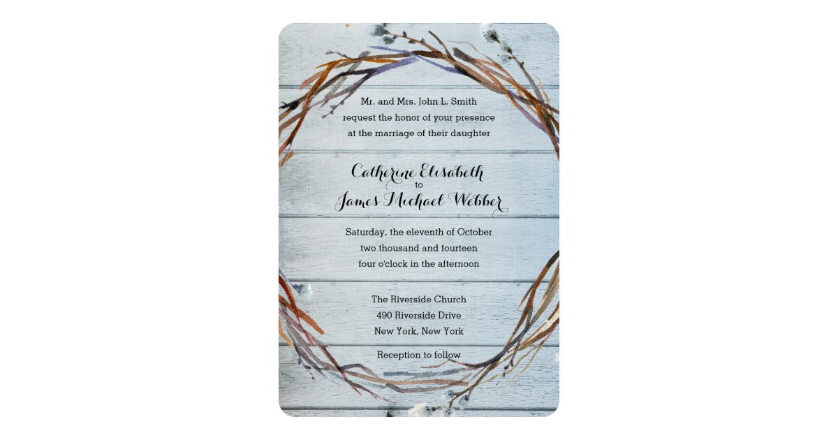 Wedding Invitation Hosted By Bride S Parents Zazzle Com