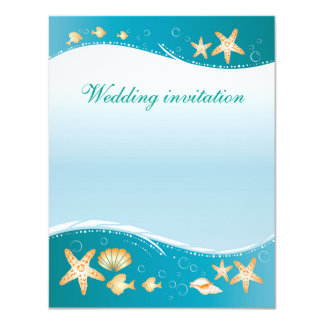 wedding invitation in beach style