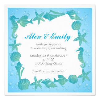 wedding invitation in beach style